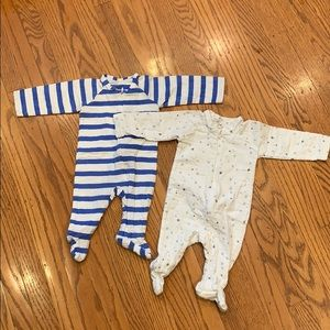 Aden + Anis Bundle 2 Zip Footies, 0-3 months